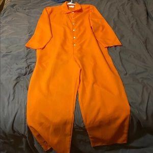 Halloween Costume Prison Jumpsuit